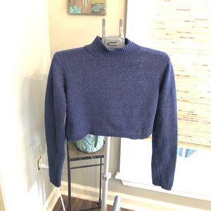 Mock turtleneck cropped sweater